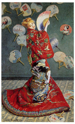 No.014_交差する物語_02_クロード・モネ『ラ・ジャポネーズ』、1876年。
